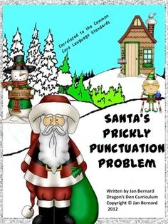 Use Santa to help your students learn language skills this holiday season. This Freebie includes a five page read-aloud story about Santa's punctuation problem, followed by two language worksheets for each grade level from first to fifth. Each worksheet has the common core standards it addresses in the lower