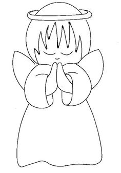 Trendy baby drawing angel coloring pages ideas Christmas Drawing, Felt Christmas, Christmas Colors, Christmas Angels, Angel Crafts, Felt Crafts, Christmas Crafts, Christmas Ornaments, Christmas Decorations