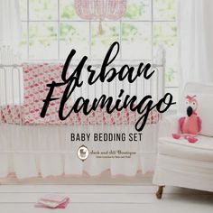 Our Urban Flamingo set features adorable flamingos in different shades and patterns of pink. Nautical Baby Bedding, Baby Girl Crib Bedding, Baby Bedding Sets, Girl Nursery, Gifts For New Moms, New Baby Gifts, Flamingo Nursery, Crib Rail Cover, Expecting Mom Gifts