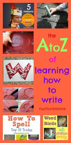 Here are twenty-six fun, creative, tried-and-tested ideas that you can use with your children to help them enjoy their first steps in learning how to write.