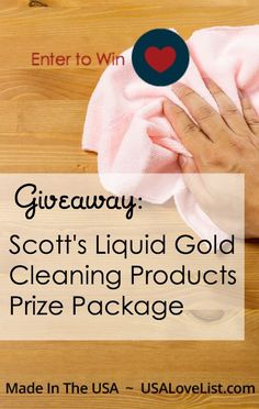 Prize package of Scott's Liquid Gold cleaning products | get ready for holiday entertaining | Fall cleaning | Made in USA