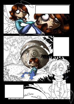 Tavola di Giorgia Lanza per la creazione di un fumetto in cooperazione con 8 diversi artisti. Comic Art. #progettodaunalapide