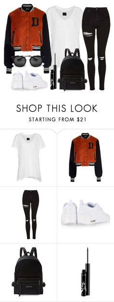 """Untitled #1079"" by loveeleanorfashion ❤ liked on Polyvore featuring RtA, Topshop, NIKE, Longchamp and Prada"