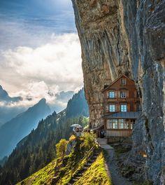 THE AMAZING WORLD: Aescher Hotel / Appenzellerland, Switzerland