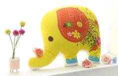 Cotton Panel fabric 47 x 27 120 x 70 cm Elephant by BonitaFabric, $15.80