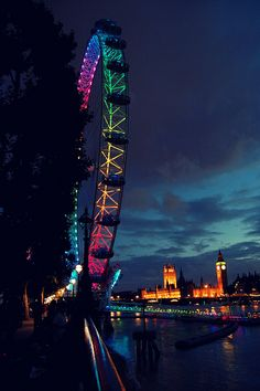 .london eye and houses of parliament