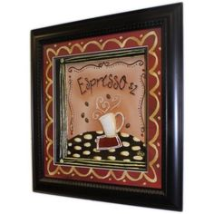 Hand Painted Relief Art - Espresso