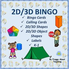 and Shapes/Object Shapes Bingo 1 by Froggy About Teaching School Resources, Teaching Resources, Teaching Ideas, Phonics Activities, Classroom Activities, Math Games, Teaching Reading, Teaching Math, Kindergarten Math