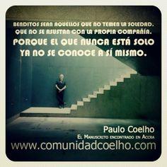 «El que nunca está solo ya no se conoce a sí mismo.» - La #Soledad, en el #ManuscritodeAccra de @Paulo Fernandes Coelho  - www.instagram.com/comunidadcoelho www.comunidadcoelho.com #PauloCoelho #Soledad @Planetadelibros.com.com.com.com.com #InstaCoelho #Quote #Cita