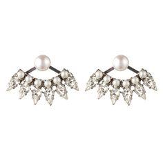 Dannijo Belinda Ear Jacket: http://www.stylemepretty.com/2016/07/31/pearl-jewelry-bride-wedding/