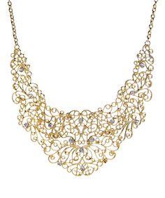 Another great find on #zulily! Goldtone Ornate Bib Necklace #zulilyfinds