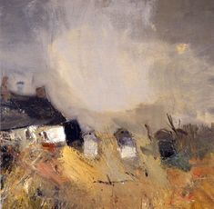 Joan Eardley 1921 - 1963 Joan Eardley, although English by birth, became known and revered as one of Scotland's most prominent mid century artists. Abstract Landscape Painting, Landscape Art, Landscape Paintings, Abstract Art, Modern Art, Contemporary Art, Glasgow, Painting Inspiration, Painting & Drawing