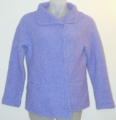 """Eileen Fisher Alpaca Large Purple Jacket. Free shipping and guaranteed authenticity on Eileen Fisher Alpaca Large Purple JacketElegant cardigan from Eileen Fisher in """"Iced Plum""""..."""