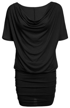 Casual Stretch Batwing Sleeves Soft Drape Mini Dress - Oh Yours Fashion - 6