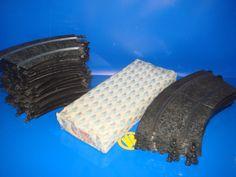 Acessorios scalextric material de años 70/80-19 curva + 16 curva 3053 + 6 rectas