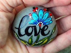 love / painted rocks /painted stones / by LoveFromCapeCod on Etsy by marla