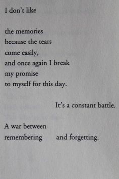Constant battle...everyday