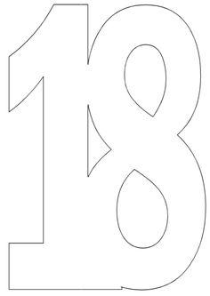 number 1 stencil printable