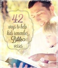 42 games to help kids memorize scripture verses