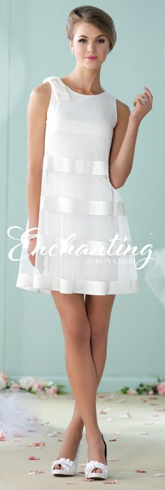 Enchanting by Mon Cheri - The Premiere Collection ~Style No. 215112 #shortweddingdresses