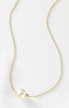 6d2261bf9b60 Cadena delgada en 4 baños de oro de 18 kt con dije de perla color natural .  Modelo 415431L. Chielito Lindo · JOYERIA NICE