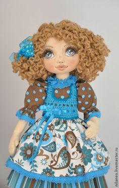 Карина - тёмно-бирюзовый,текстильная кукла,авторская кукла,интерьерная кукла