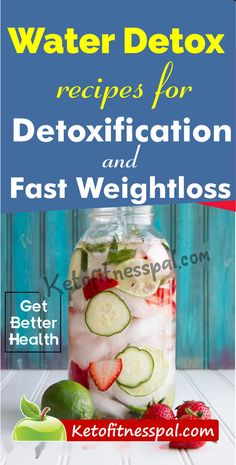 Water detox recipes are the trend of the moment for fast weight loss and body cleansing. These recipes will keep you hydrated and help you burn calories. Ginger Detox Water, Best Detox Water, Lemon Detox, Full Body Cleanse Detox, Detox Cleanse Recipes, Flavored Water Recipes, Healthy Detox, Health And Wellness, Detox Drinks