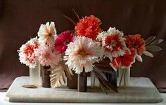 Paper flowers are great in winter to cheer you up!
