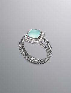 David Yurman | Women | Rings: Petite Albion Ring, Aqua Chalcedony