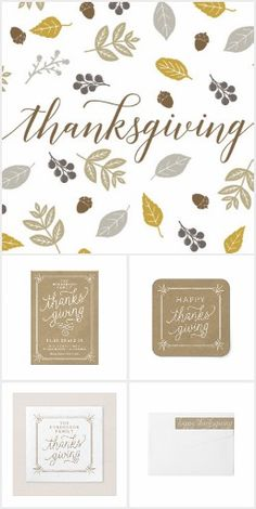 Turkey And Toasts Card Modern Thanksgiving Dinner Party Invite