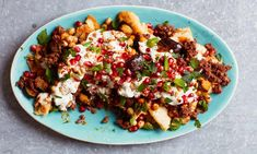 The simple fix A glorious muddle of lamb, roasted aubergine, Middle Eastern spices and crisp chickpeas Lamb Mince Recipes, Raw Food Recipes, Cooking Recipes, Savoury Recipes, Meat Recipes, Healthy Recipes, Roasted Carrots And Parsnips, Aubergine Recipe, Lamb Dishes