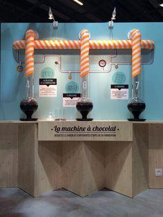 Exposition chocolatée du Syndicat du Chocolat conçue et réalisée par Pierre & Maurice