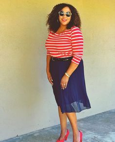 Talking about this skirt on the Blog! Will have this @target skirt from their A New Day line on repeat 💁🏾! Navy matches with most of the other stuff I got in my closet 😎. Link in Bio. #wearwhatyoulike #makeyousmilestyle #ontheblogtoday #livecolorfully