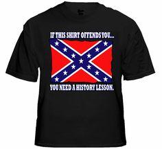 Rebel & Redneck Tees - Confederate Flag History Lesson T-Shirt