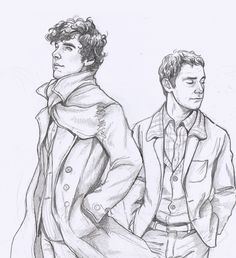 Beautiful! Sherlock's windswept hair & his uplifted expression are wonderful. He looks younger here. So good.      The artist, loobeeinthesky, said:     A Sherlock WIP I'm working on to beat my art block.