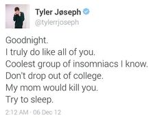 I LOVE TYLER. HE DOENT FAKE CARE HE DOES AND SO DOES JOSH LIKE THEY REALLY DO AND I LOVE THEM