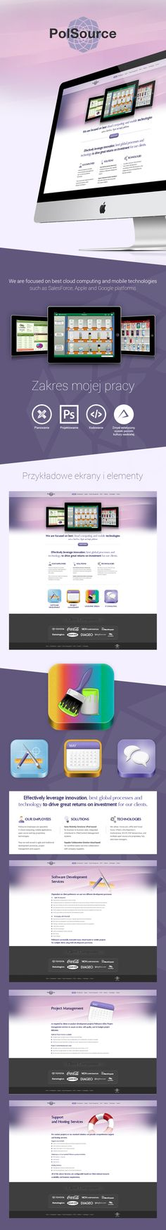 Polsource website | Webdesign | Web | Design | html/css/js | Web Graphics