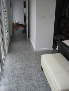 polished concrete floors look good with neutral walls