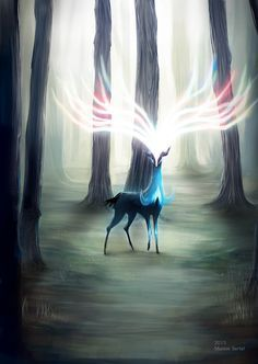 Because I love games, and always loved Pokemon games! I've played them so often in my childhood, so I'm very excited of Pokemon XY ^^ Fanart of Xerneas . Gif Pokemon, Pokemon Fan Art, Mononoke Forest, Images Kawaii, Pet Anime, Performance Artistique, Kino Film, Pokemon Pictures, Catch Em All
