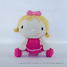 Sweet & Lovely Doll Amigurumi  PDF Crochet door oneandtwocompany, $3.99