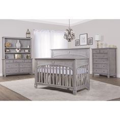 Evolur Santa Fe Storm Grey 5-in-1 Convertible Crib (Storm Grey)