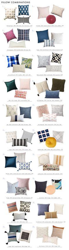 Emily Henderson 20 No Fail Pillow Combos Roundup
