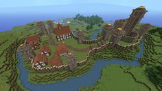 Motte and Bailey Castles are EPIC and REALLY EASY to build in Minecraft!