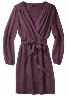 Purple wrap dress