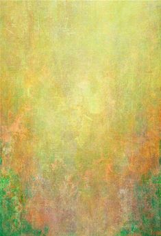Yellow Orange Green Abstract Photo Background Portrait Backdrop - 5(W)X7(H)FT(1.5X2.2M)