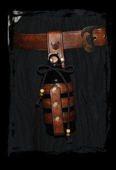 water bottle holder belt accessory by Lagueuse.deviantart.com on @deviantART
