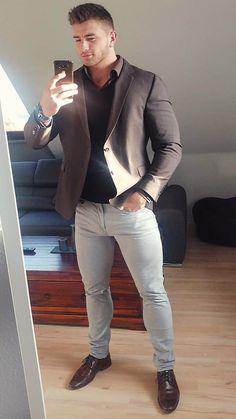 Beautiful Men Faces, Gorgeous Men, Men In Tight Pants, Stylish Mens Outfits, Men In Uniform, Muscular Men, Blazers For Men, Well Dressed Men, Good Looking Men