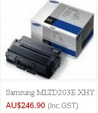 Buy high quality samsung-ml-td205s- toner at $ 246.90 and many other models at Cheap rates from eTONERS having ware-house in Sydney. Get FREE Shipping across Australia excluding Tasmania & Norfolk Island..!