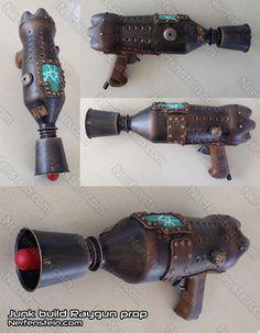 Steampunk retro raygun Dan Dare style