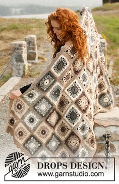 "Christmas gift idea for #mom: Crochet DROPS blanket in ""Lima"". ~ DROPS Design"